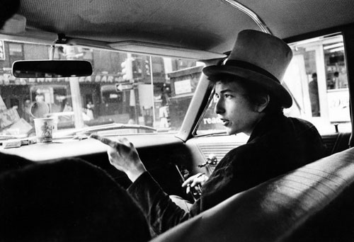 Bob Dylan en 1964 en Philadelphia © Daniel Kramer