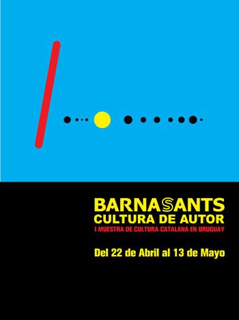 Cartel oficial de la I Bienal Catalunya / Uruguay.