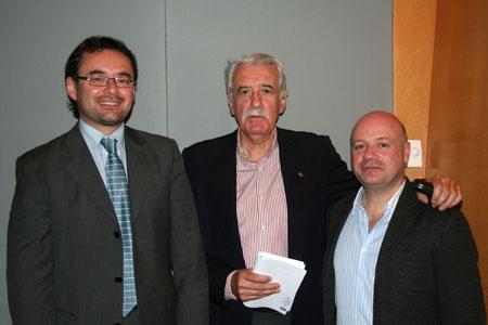 De izquierda a derecha: Alfons Reverté, Xavier Ribalta y Albert Guinovart. © Xavier Pintanel
