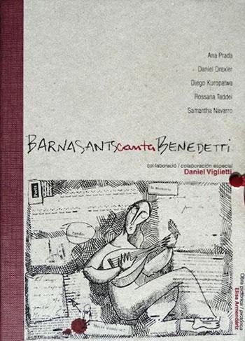 Portada del cuaderno-libro «BarnaSants canta Benedetti».