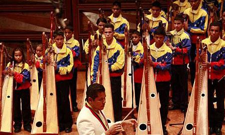 Orquesta juvenil de música tradicional venezolana «Alma llanera».