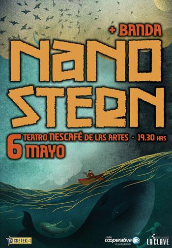 Cartel del concierto de Nano Stern.