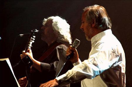 El dúo Schwenke y Nilo.
