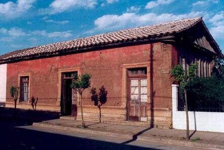 Casa natal de Violeta Parra en San Carlos.
