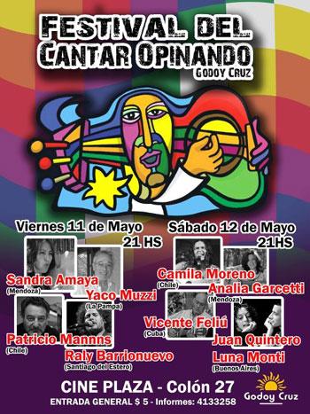 Cartel del Festival «Cantar opinando».