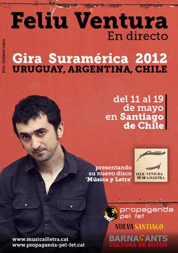 Cartel de la fira de Feliu Ventura por Uruguay, Argentina y Chile.