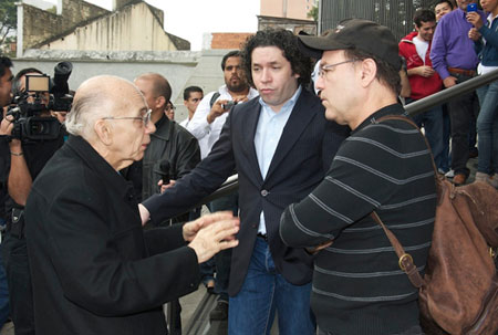 José Antonio Abreu, Gustavo Dudamel y Rubén Blades.