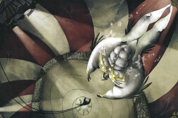 Ilustración tomada del libreto del  CD de Glazz «Cirquelectric». © David Rendo