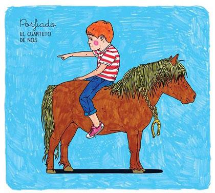 Portada del disco «Porfiado» de El Cuarteto de Nos.