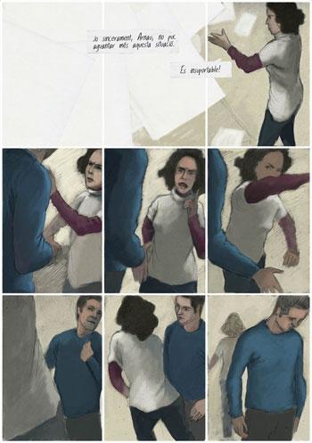 Fragmento del cómic-CD «Els dies del Saurí» de VerdCel.