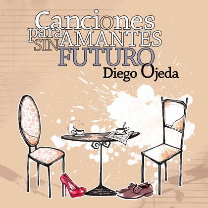 Portada del triple CD «Canciones para amantes sin futuro» de Diego Ojeda