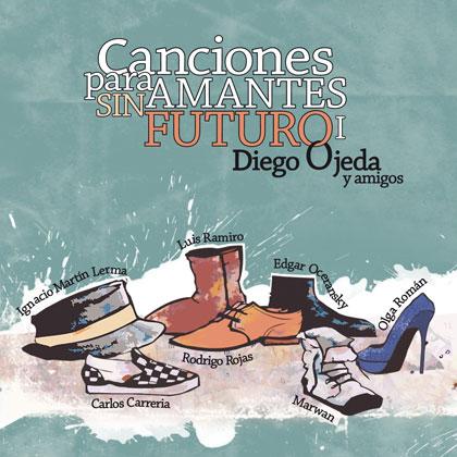 Disco 1: «Colaboraciones» El primer disco, titulado «Diego Ojeda y amigos», recoge canciones grabadas con Ignacio Martín Lerma, Luis Ramiro, Olga Román, Marwan, Carlos Carreria, Edgar Oceransky y Rodrigo Rojas.