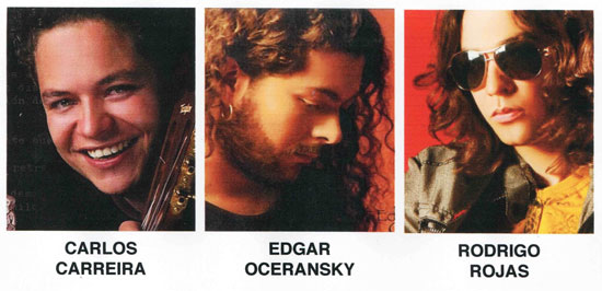 Carlos Carreira, Edgar Oceransky y Rodrigo Rojas.