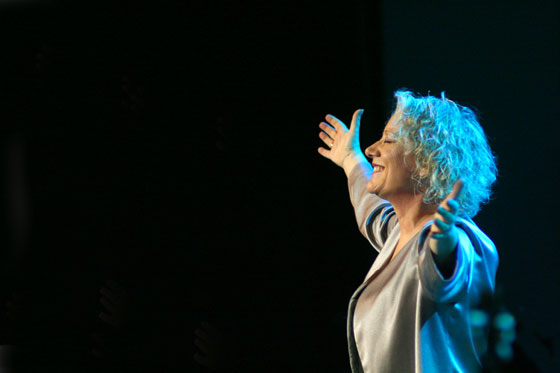 Marina Rosell en la presentación oficial del disco en el Palau de la Música Catalana de Barcelona el pasado 19 de abril de 2012. © Xavier Pintanel