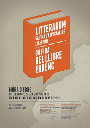 Cartel de la feria de espectáculos literarios Litterarum.