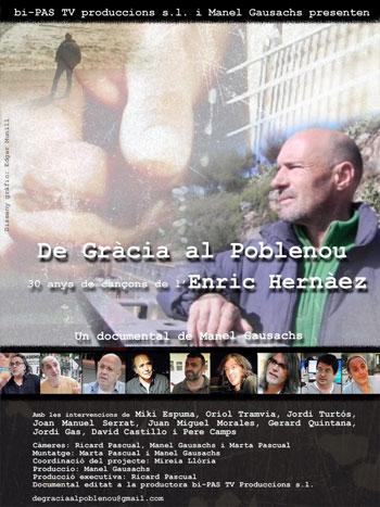 Cart4el del documental «De Gràcia al Poblenou. 30 anys de cançons de l