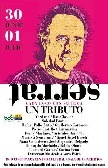 Cartel de los conciertos «Cada loco con su tema. Serrat: un tributo».