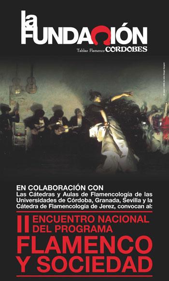 Cartel del II Encuentro Nacional «Flamenco y Sociedad».