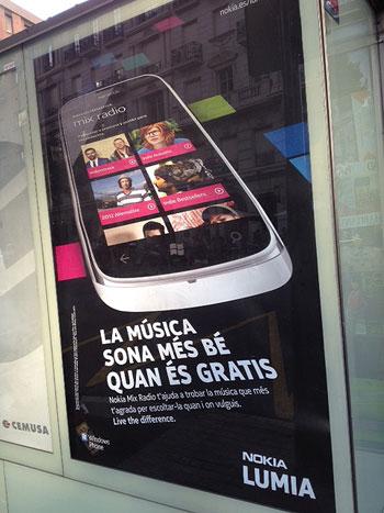 Campaña de Nokia «La música suena mejor cuando es gratis».