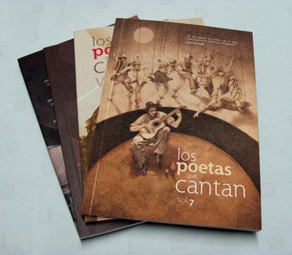 Libros de anteriores ediciones de «Los poetas que cantan».