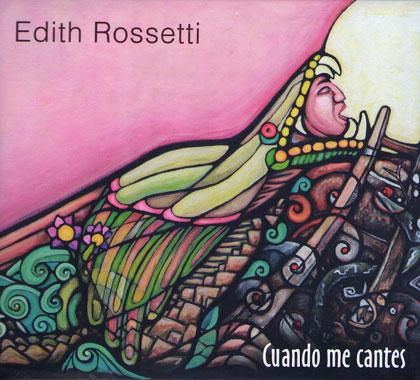 Portada del disco «Cuando me cantes» de Edith Rossetti.