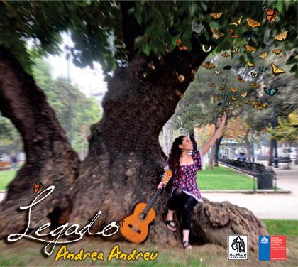 Portada del disco «Legado» de Andrea Andreu.