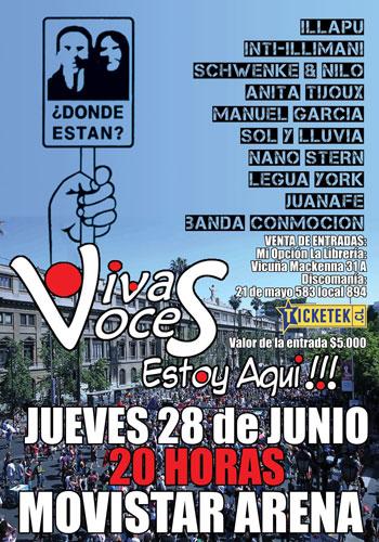 Cartel de concierto «Vivas Voces».