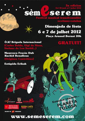 Cartel del III Festival Sèm e Serem 2012.