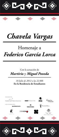 Cartel del concierto de Chavela Vargas en homenaje a García Lorca en Madrid.