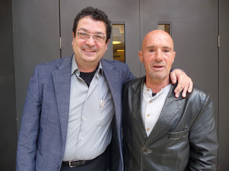 David Castillo y Enric Hernàez en su reciente viaje a Uruguay. © Josep Maria Hernández Ripoll