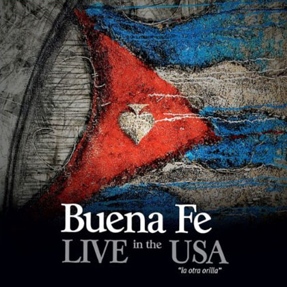 Portada del disco «Live in the USA. La otra orilla» de Buena Fe.