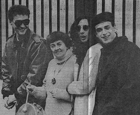 Leda Valladares con Gustavo Cerati, Fito Páez y Pedro Aznar.
