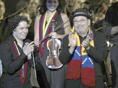 Gustavo Dudamel y Rubén Rubén Blades.