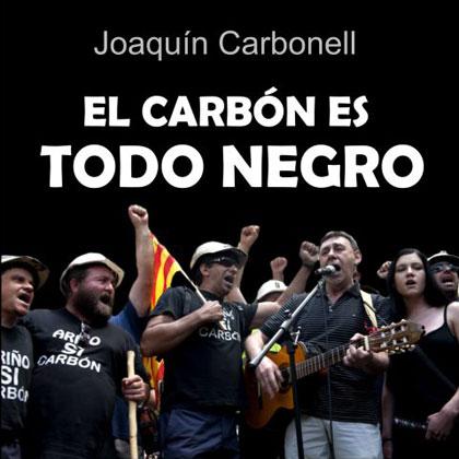 Portada del disco «El carbón es todo negro» de Joaquín Carbonell.