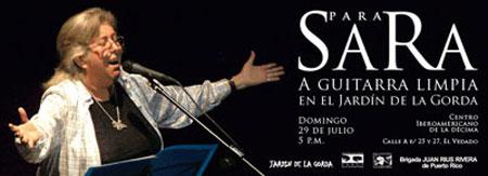 Invitación al concierto «Para Sara»