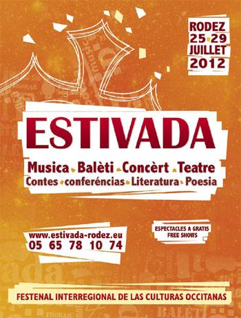 Cartel del Festival Estivada de Rodez 2012.