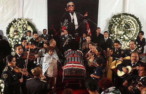 El funeral de Chavela Vargas en la Plaza Garibaldi. © REUTERS/Edgard Garrido