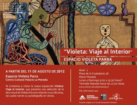 Cartel de la exposición «Violeta, Viaje al Interior»