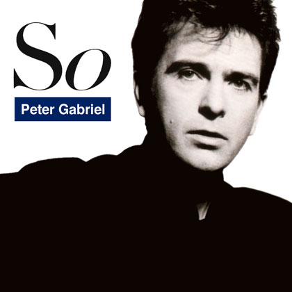 Portada original del disco «So» de Peter Gabriel.