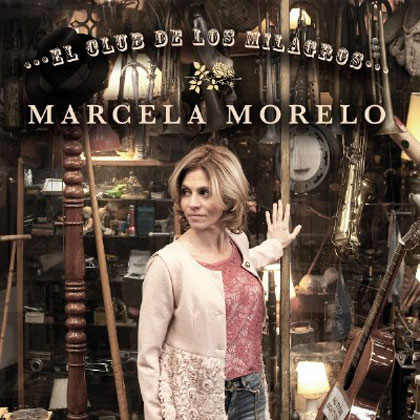 Portada del disco «El club de los milagros» de Marcela Morelo.