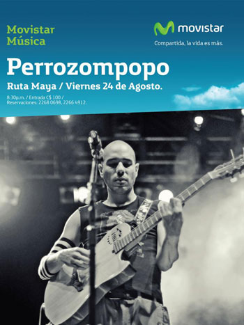 Cartel del concierto de Perrozompopo en Managua.