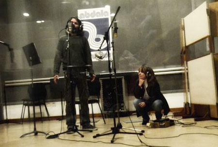 Santiago Feliú y Liuba María Hevia durante la grabación de «El día que me quieras». © Olivia Prendes