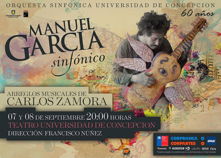 Cartel del concierto Manuel García Sinfónico