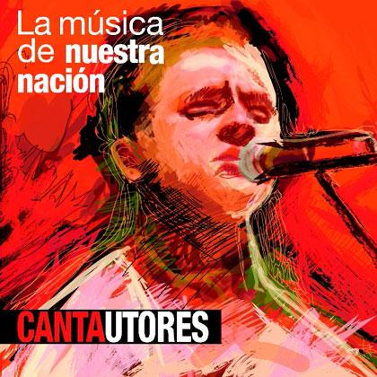 Portada del disco «Cantautores» de la colección «La música de nuestra nación».