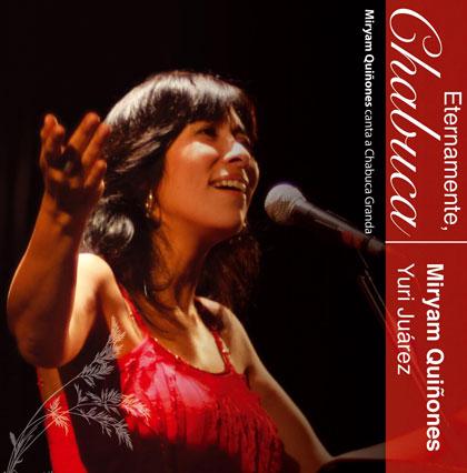 Portada del disco «Eternamente, Chabuca» de Miryam Quiñones.