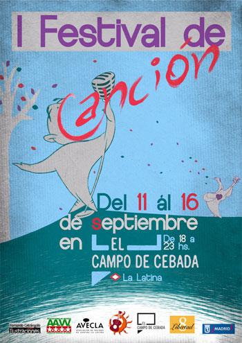 Cartel del I Festival de Canción del Campo de Cebada.