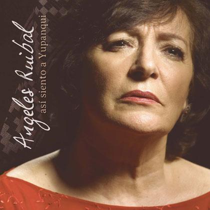 Portada del disco «Así siento a Yupanqui» de Ángeles Ruibal.