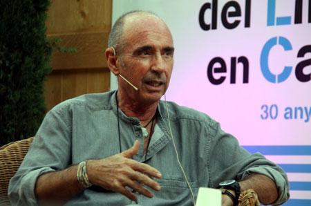 Lluís Llach el pasado lunes en la Semana del Libro en Catalán.