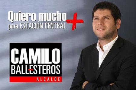 Afiche de la campaña de Camilo Ballesteros a la alcaldía de Estación.