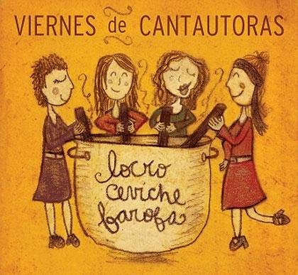 Cartel de los conciertos «Viernes de cantautoras».